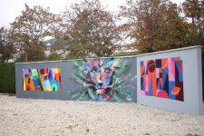 Le mur de graffs reconstruit grâce à Julien, se porte bien