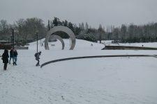 Saint-Quentin-en-Yvelines sous un manteau de neige