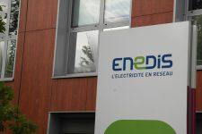 Des salariés d'Enedis en grève contre le licenciement d'un technicien