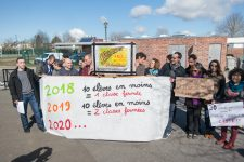 Nouvelle action au collège de l'Agiot contre la suppression future de deux classes