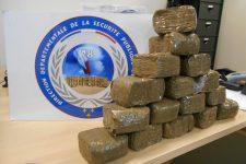 Huit kilos de cannabis saisis par la police