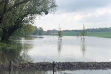 Le ru de Gally a inondé les champs voisins