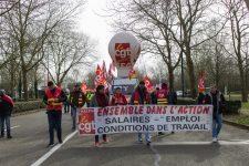 Manifestation intersyndicale chez Thales, Airbus et CRMA