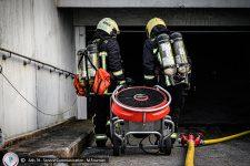 Un incendie dans un parking souterrain mobilise une trentaine de pompiers